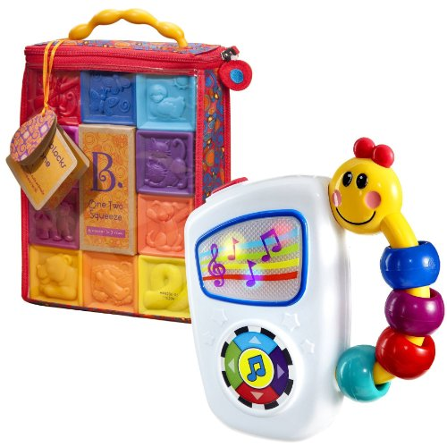 B. One Two Squeeze Blocks With Take Along Tunes Musical Toy front-1031607