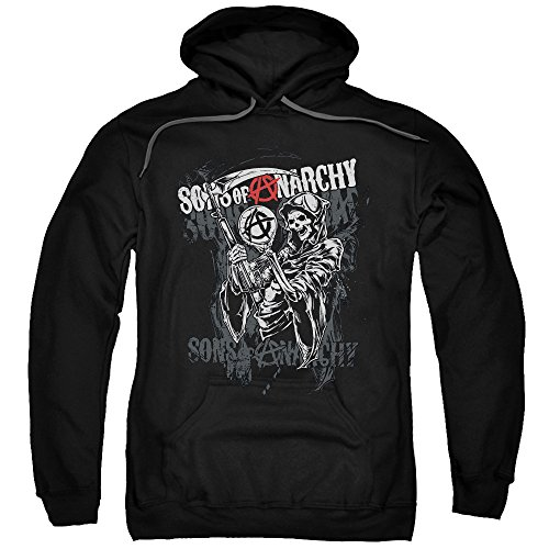 Sons of Anarchy - Felpa con cappuccio -  Felpa con cappuccio  - Maniche lunghe  - opaco - Uomo nero X-Large