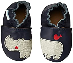 Robeez Friends Wrap Around Crib Shoe (Infant/Toddler),Navy,0-6 Months M US Infant