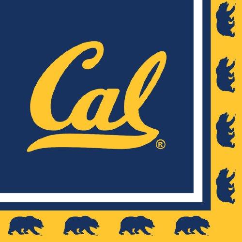 Creative Converting 20 Count UC Berkeley Golden Bears Lunch Napkins