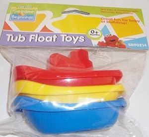 Sesame Street Beginning BPA Free Baby Tub Float Toys