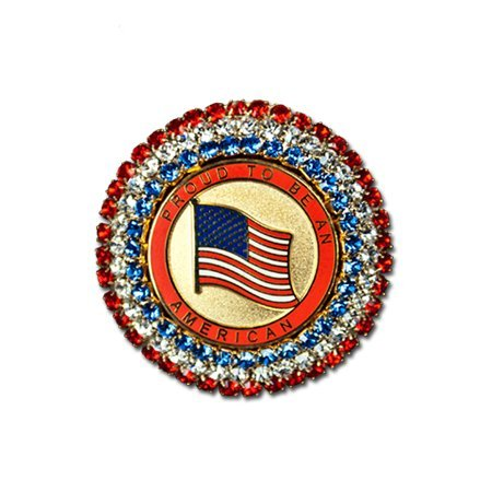 Proud American Crystal Brooch/Pin