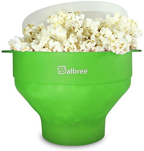 Salbree Collapsible Silicone Microwave Popcorn Popper, Green (Wire Twister Machine compare prices)