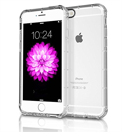 iPhone 6s Case, Premium Clear Case, Soft Back Panel TPU Bumper for Apple iPhone 6 [ Air Cushion Design ] Transparent Clear Back Panel Cover For Your Smart Phone - Rubber Gel Flexible From CellProtex