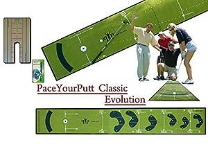 Peekace Deluxe Package PaceYourPutt Classic Tapis de putting + Miroir + Marqueur Ball liner