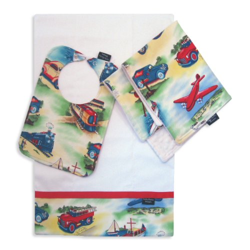 On The Move Bib, Burp Cloth And Cuddle Blanket Set front-1063629