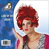 LADY OF THE NIGHT WIG MEN'S GENTS HALLOWEEN COSTUME BOYS FANCY DRESS PARTY NEW