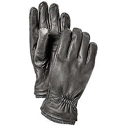 Hestra Deerskin Swisswool Rib Cuff Glove - Men\'s Black 10