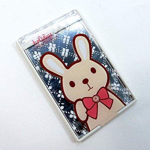 二つ折りファンシーコンパクトミラー ウサギ CMー509