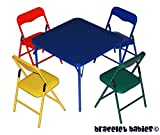 Children's Folding Table & Folding Chairs Furniture Set