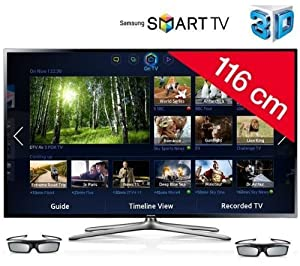 Samsung UE46F6400 Smart 3D LED TV - EU Model, and Full HD picture is only available via a HD set-top box (not included)