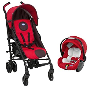 Chicco Liteway Plus Travel System Fire (Red)