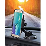 Bestrix Universal Dashboard & windshield Car Phone Mount Holder for iPhone 6/6S/7 Plus 5S/5C/5 Samsung Galaxy S5/S6/S7 Edge/Plus Note 4/5 LG G3/G4/G5 all smartphones up to 6