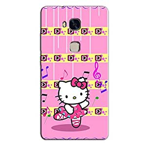 PINK TEDDY KITTY BACK COVER FOR HONOR 5X