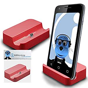 Red Micro USB Sync & Charge / Charging Desktop Dock Stand Charger For Samsung T999 Galaxy S III