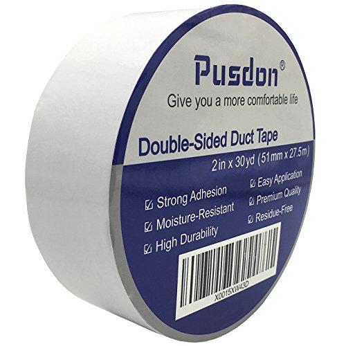 pusdon-double-sided-duct-tape-2-inch-x-30-yards-51mm-x-275m-multi-use