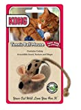 KONG Tennis Ball Mouse Catnip Toy, Cat Toy, Brown