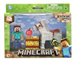 Minecraft Steve with White Horse Acti...