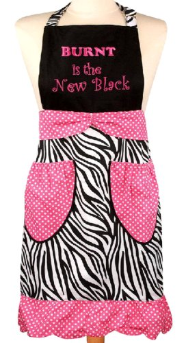Manual Vintage Style Kitchen Apron, Burnt Is The New Black front-941232