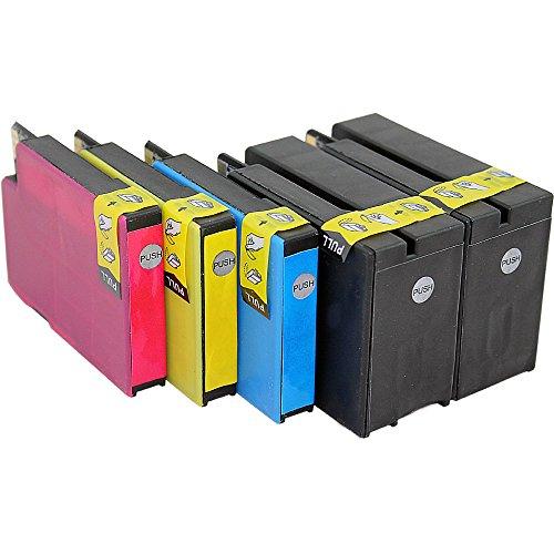 ms-point® 5x Kompatible Druckerpatronen XXL mit Chip für HP Officejet 6100 eprinter / 6600 E-ALL-IN-ONE / 6700 Premium ersetzt NR. 932 933 CN053AE CN054AE CN055AE CN056AE