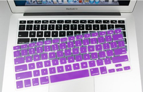 """Pioneer Tech® New Silicone Rubber Keyboard Skin Cover Film For Apple Macbook Retina 15"""" (Purple)"""