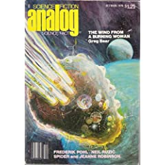 Analog Science Fiction, Vol. 98, No. 10 (October, 1978) by Ben Bova, Rick Sternbach, Spider Robinson and Greg Bear