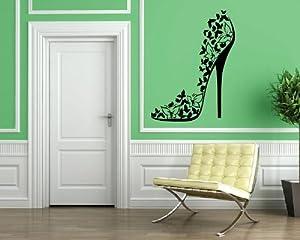 Amazon.com: High Heel Shoe Sexy Stiletto Fashion Decor Wall Art MURAL ...