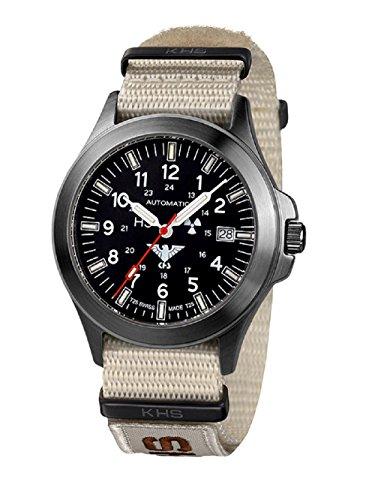 Relojes KHS Tactical KHS hombre automático de colour negro. BPA.NXTLT5 IPB XTAC Tan reloj de mujer de acero inoxidable