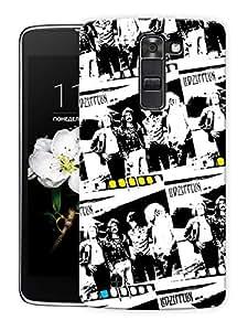 "Led Zeppelin Film Strip Printed Designer Mobile Back Cover For ""LG K10"" By Humor Gang (3D, Matte Finish, Premium Quality, Protective Snap On Slim Hard Phone Case, Multi Color)"