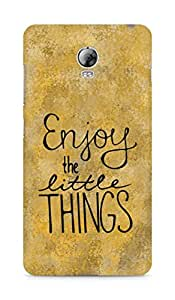 AMEZ enjoy the little things Back Cover For Lenovo Vibe P1