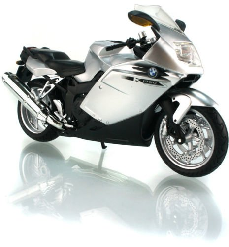 1:12 Scale BMW K1200S Silver Diecast Motorcycle Model