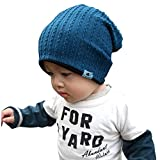 Goyestore Fashion Cute boy girl Trendy Baby Toddler child Hat Knit Beanie Warm Winter cap (Blue)