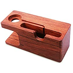 Apple Watch Stand, Aerb Rose Wood Charging Stand Bracket Docking Station Stock Cradle Holder for iPhone and Apple Watch 38mm 42mm