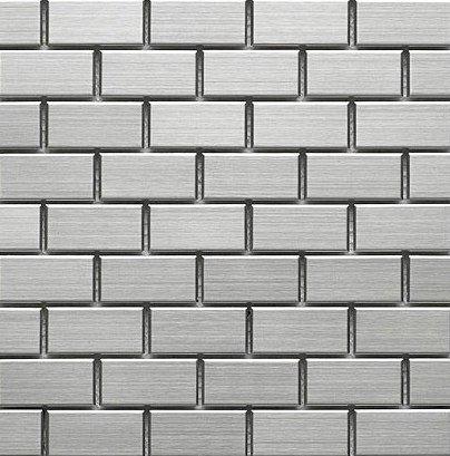 Stainless Steel Metal 1x2 Mosiac Sheets for Backsplash, Shower Walls, Bathroom Floors