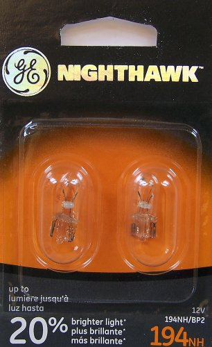 GE 194NH/BP2 Nighthawk Automotive Replacement Bulbs, Pack of 2