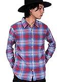 (エイト) 8(eight)3color チェック ネルシャツ 長袖シャツ コットン アメカジ レッド L