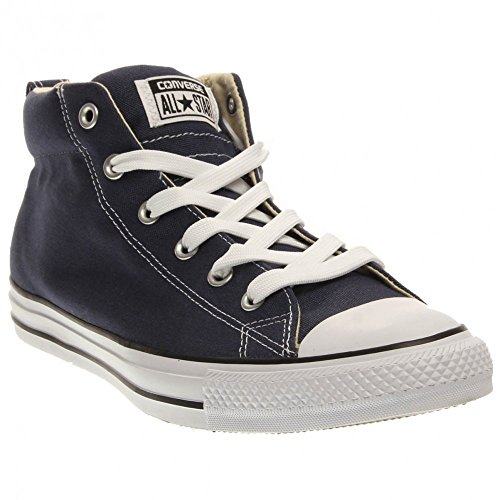 Converse Unisex Chuck Taylor Street Mid Navy Natural Casual Shoe 9 Men US / 11 Women US