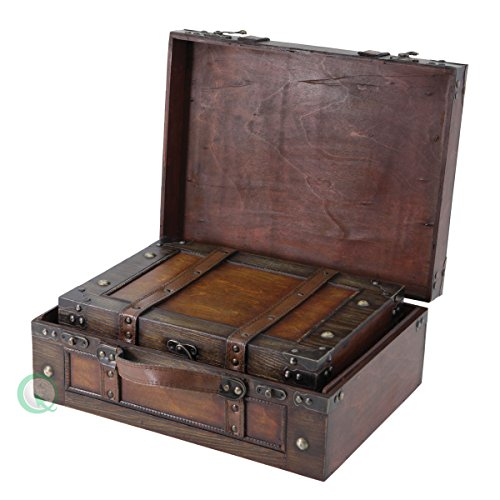 Vintiquewise(TM) Old Style Suitcase/Decorative Box with Straps ...  sc 1 st  ReviewHomkit & Vintage Storage Trunks
