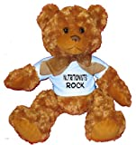 Nutritionists Rock Plush Teddy Bear with BLUE T-Shirt