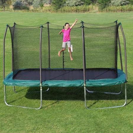 Skywalker-6-years-old-and-above-14-x-8-Rectangle-Trampoline-and-Enclosure-made-with-heavy-duty-galvanized-steel-and-jumping-mat-made-of-UV-protected-polypropylene