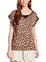 TWIN-SET Camiseta Manga Corta (Leopardo)