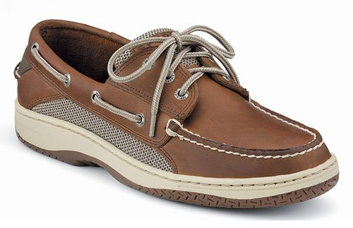 Sperry Top-Sider Men's Billfish 3-Eye Boat Shoe Lace-Up,Dark Tan,10 EE US