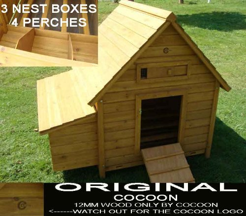 LARGE COCOON CHICKEN COOP HEN HOUSE POULTRY ARK NEST BOX NEW - LARGER MODEL 1000 WITH SECURE NEST BOX FLOOR  &  CLEANING TRAY - 1/3 BIGGER THEN MODEL 600 NOW 4-6 BIRDS