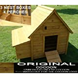 LARGE COCOON CHICKEN COOP HEN HOUSE POULTRY ARK NEST BOX NEW - LARGER MODEL 1000 WITH SECURE NEST BOX FLOOR & CLEANING TRAY - 1/3 BIGGER THEN MODEL 600 NOW 4-6 BIRDSby Cocoon