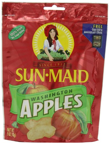 Sun Maid Washington Apples, 5-Ounce Pouches (Pack of 5)