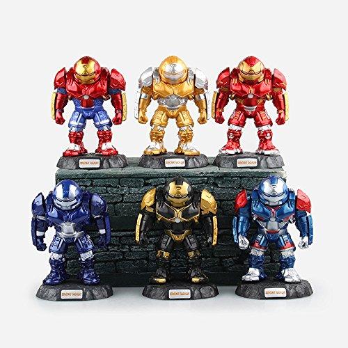"Marvel Avengers 2 Iron Man Hulk Buster 3"" Q-version Figures Pack of 6 (PVC)"