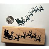Santa Claus rubber stamp P37