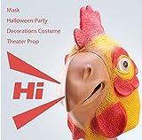 IMAGE®の学園祭最適ー面白く不気味な鶏ヘッドマスク 【ハロウィン仮装・変装グッズ・面白マスク・コスプレ・かぶりもの】