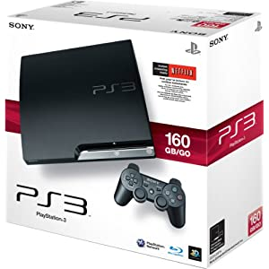 51XKl2EODnL. AA300  Sony PlayStation 3 Slim 160GB Console   $300