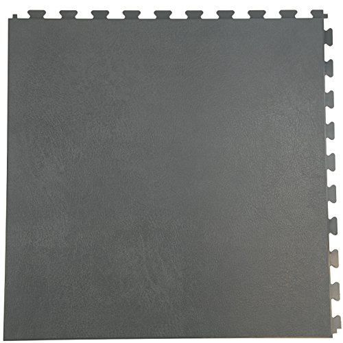 IncStores Smooth Flex Multi-Purpose Hidden Interlocking PVC Floor Tiles 6 Tile Pack Covers 16.67 sqft (Graphite)